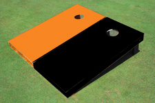 Black and Orange Solid Cornhole Boards