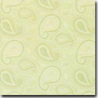 "Paisley Pattern Metallic 8 1/2"" x 11"" cover weight Green on Stardream Opal"