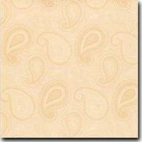 "Paisley Pattern Metallic 8 1/2"" x 11"" cover weight Orange on Stardream Opal"