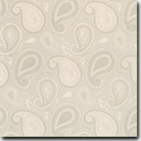 "Paisley Pattern Metallic 8 1/2"" x 11"" cover weight Taupe on Stardream Opal"