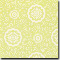 "Portico Pattern Metallic 8 1/2"" x 11"" cover weight Green on Stardream Opal"