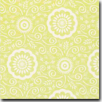 "Portico Pattern Metallic 8 1/2"" x 11"" text weight Green on Stardream Opal"