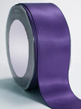"Regal Purple Double Faced Satin Ribbon 3/8"" x 100 yard spool"