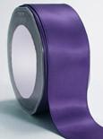 "Regal Purple Double Faced Satin Ribbon 1 1/2"" x 50 yard spool"
