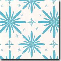 "Starlet Pattern Metallic 8 1/2"" x 11"" cover weight Blue on Stardream Quartz"