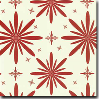 "Starlet Pattern Metallic 8 1/2"" x 11"" text weight Red on Stardream Opal"