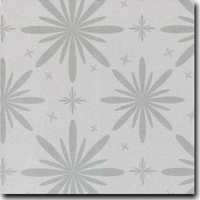 "Starlet Pattern Metallic 8 1/2"" x 11"" cover weight Silver on Stardream Silver"