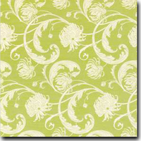 "Chantry Pattern Metallic 8 1/2"" x 11"" cover weight Green on Stardream Serpentine"