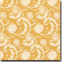 "Chantry Pattern Metallic 8 1/2"" x 11"" cover weight Orange on Aspire Petallics Autumn Hay"