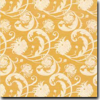 "Chantry Pattern Metallic 8 1/2"" x 11"" text weight Orange on Aspire Petallics Autumn Hay"