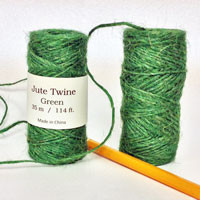 Green Jute Twine 114 foot spool