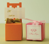 "Metallic Cardstock Favour Boxes 2"" x 2"" x 2"" 25 per package"
