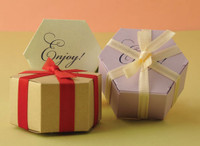 "Metallic Cardstock Favour Boxes 2 1/2"" x 2 1/4"" x 1 1/4"" 25 per package"