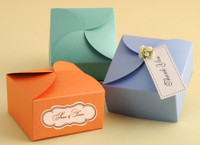 "Metallic Cardstock Favour Boxes 2 3/4"" x 2 3/4"" x 1 1/2"" 25 per package"