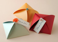 "Metallic Cardstock Favour Boxes 3 1/4"" x 3 1/4"" x 1 1/4"" 25 per package"