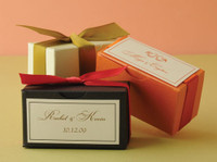 "Metallic Cardstock Favour Boxes 2 3/4"" x 1 3/8"" x 1 1/2"" 25 per package"