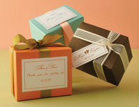 "Metallic Cardstock Favour Boxes 3 1/4"" x 2 1/4"" x 2 3/4"" 25 per package"