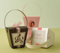 "Metallic Cardstock Favour Boxes 2 5/8"" x 2 5/8"" x 2 5/8"" 25 per package"