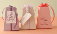 "Metallic Cardstock Favour Boxes 2 5/8"" x 2 5/8"" x 3 3/4"" 25 per package"