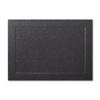 "50 Pack Malmero Perle Noir 92 Lb. Cover A7 Panel Border Cards 5"" X 7"""