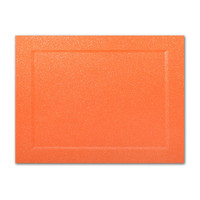 "50 Pack Malmero Perle Orange 92 Lb. Cover A7 Panel Border Cards 5"" X 7"""