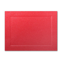 "50 Pack Malmero Perle Vermillion 92 Lb. Cover A7 Panel Border Cards 5"" X 7"""