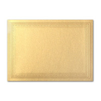 "50 Pack Stardream Metallic Gold 105 Lb. Cover A2 Imperial Embossed Border Card 4 1/4"" X 5 1/2"""