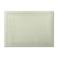 "50 Pack Stardream Metallic Serpentine 105 Lb. Cover A2 Imperial Embossed Border Card 4 1/4"" X 5 1/2"""
