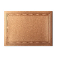 "50 Pack Stardream Metallic Copper 105 Lb. Cover A7 Imperial Embossed Border Card 5"" X 7"""
