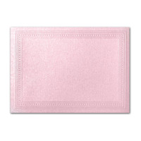 "50 Pack Stardream Metallic Rose 105 Lb. Cover A7 Imperial Embossed Border Card 5"" X 7"""