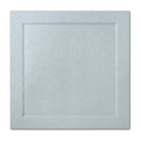 "50 Pack Stardream Metallic Aquamarine 105 Lb. Cover Square Bevel Panel Border Card 6 1/4"" X 6 1/4"""