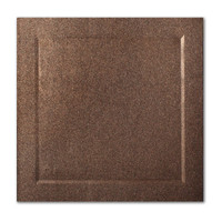 "50 Pack Stardream Metallic Bronze 105 Lb. Cover Square Bevel Panel Border Card 6 1/4"" X 6 1/4"""