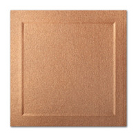 "50 Pack Stardream Metallic Copper 105 Lb. Cover Square Bevel Panel Border Card 6 1/4"" X 6 1/4"""