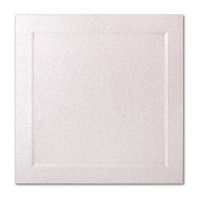 "50 Pack Stardream Metallic Coral 105 Lb. Cover Square Bevel Panel Border Card 6 1/4"" X 6 1/4"""