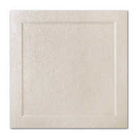 "50 Pack Stardream Metallic Opal 105 Lb. Cover Square Bevel Panel Border Card 6 1/4"" X 6 1/4"""
