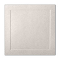 "50 Pack Stardream Metallic Quartz 105 Lb. Cover Square Bevel Panel Border Card 6 1/4"" X 6 1/4"""