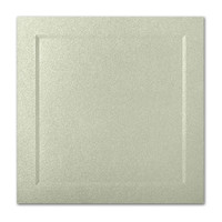 "50 Pack Stardream Metallic Serpentine 105 Lb. Cover Square Bevel Panel Border Card 6 1/4"" X 6 1/4"""
