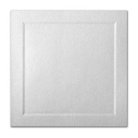 "50 Pack Stardream Metallic Silver 105 Lb. Cover Square Bevel Panel Border Card 6 1/4"" X 6 1/4"""