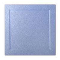 "50 Pack Stardream Metallic Vista 105 Lb. Cover Square Bevel Panel Border Card 6 1/4"" X 6 1/4"""
