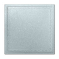 "50 Pack Stardream Metallic Aquamarine 105 Lb. Cover Square Imperial Embossed Border Card 7 1/4"" X 7 1/4"""
