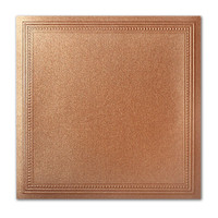 "50 Pack Stardream Metallic Copper 105 Lb. Cover Square Imperial Embossed Border Card 7 1/4"" X 7 1/4"""