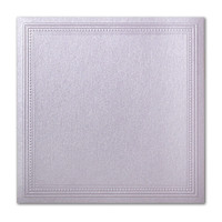 "50 Pack Stardream Metallic Kunzite 105 Lb. Cover Square Imperial Embossed Border Card 7 1/4"" X 7 1/4"""