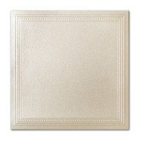 "50 Pack Stardream Metallic Opal 105 Lb. Cover Square Imperial Embossed Border Card 7 1/4"" X 7 1/4"""