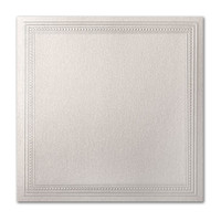 "50 Pack Stardream Metallic Quartz 105 Lb. Cover Square Imperial Embossed Border Card 7 1/4"" X 7 1/4"""