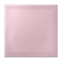 "50 Pack Stardream Metallic Rose 105 Lb. Cover Square Imperial Embossed Border Card 7 1/4"" X 7 1/4"""
