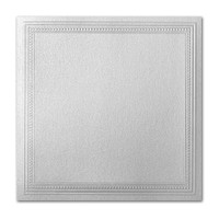 "50 Pack Stardream Metallic Silver 105 Lb. Cover Square Imperial Embossed Border Card 7 1/4"" X 7 1/4"""
