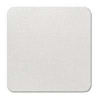 """50 Pack Eames Painting Eames White 80 Lb. Cover Square Borderless Rounded Corner Cards 6 1/4"""" X  6 1/4"""""""