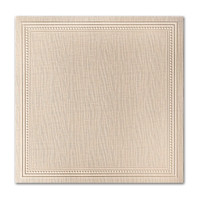 "50 Pack Eames Painting Eames Natural White 80 Lb. Cover Square Imperial Embossed Border Cards 7 1/4"" X  7 1/4"""