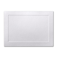"""50 Pack Eames Furniture Eames White 80 Lb. Cover A8 Panel Border Card 5 3/8"""" X 7 3/4"""""""