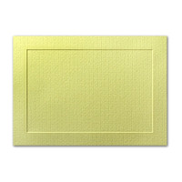 "50 Pack Eames Furniture Tivoli Green 80 Lb. Cover A8 Panel Border Card 5 3/8"" X 7 3/4"""